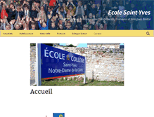 Tablet Preview of ecolesaintyves.fr